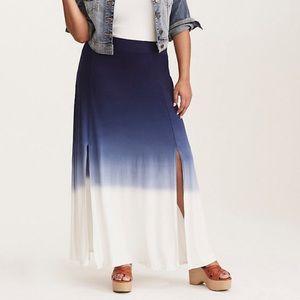 Torrid ombré maxi skirt